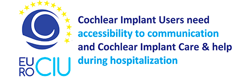 Cochlear Implant Users need accesibililty to communicationduring hospitalilzation